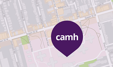 Map of CAMH Queen Street Campus